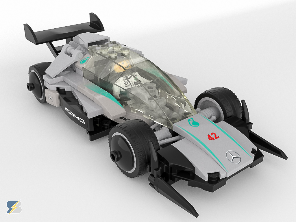 mercedes amg f1 w14 speed champions digital moc racingbrick. Black Bedroom Furniture Sets. Home Design Ideas