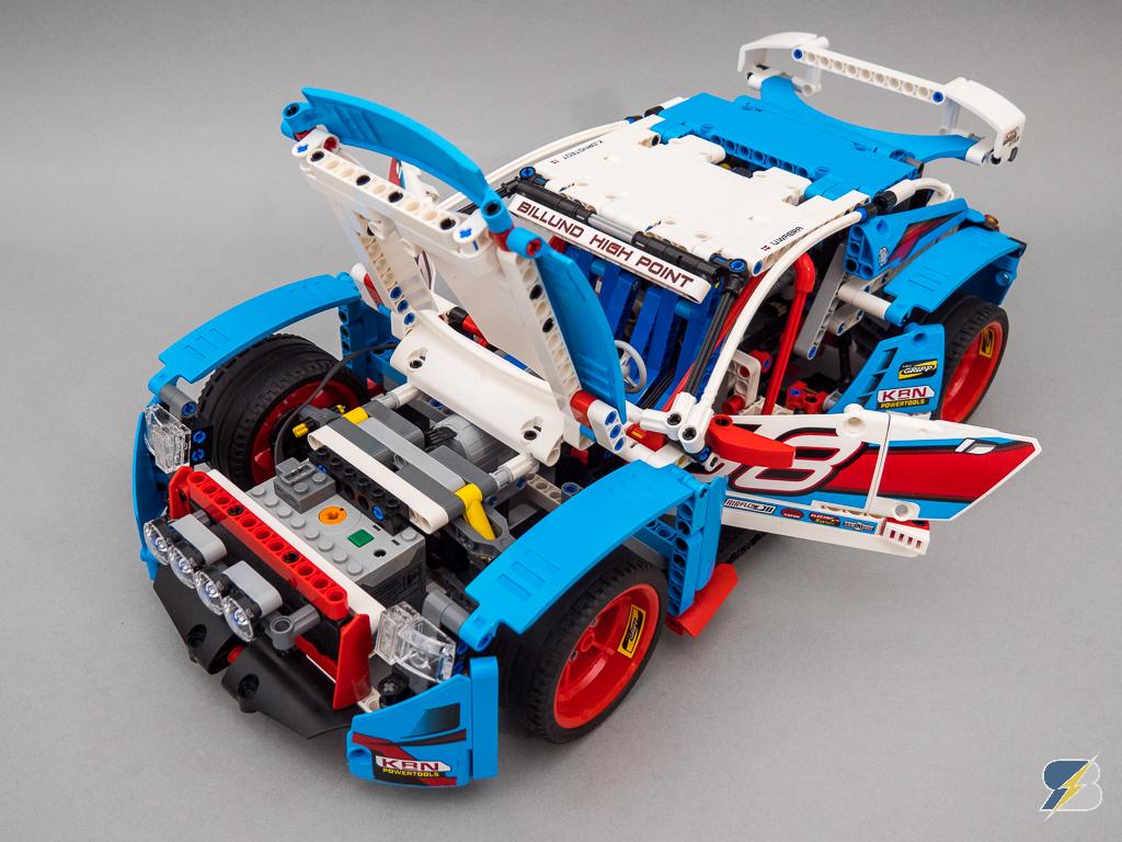 Lego Technic 42077 Rally Car 2wd Rc Mod Building Instructions
