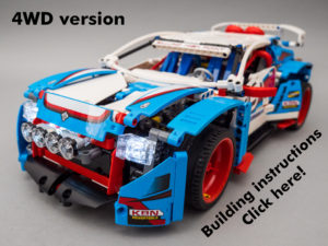 Lego Technic 42077 Rally Car 2wd 4wd Rc Mod With Building