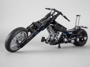 Vader's Custom Motorcycle using parts from LEGO Technic 42036 Street Motorcycle and LEGO Technic 42050 Drag Racer